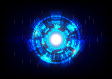 Blue abstract technology background. Illustration stock illustration