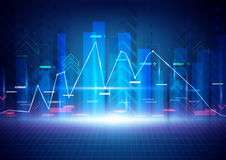 Blue abstract technology background. Stock Market background Stock Images