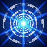 Blue Abstract technology Background, vector illustration. Innovation Stock Photo