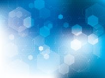 Blue abstract technology backgrounds. With hexagons in vector Royalty Free Stock Photography