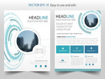 Blue abstract Technology Brochure annual report design template vector. Business Flyers infographic magazine poster. Stock Images