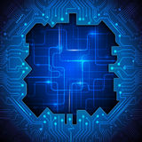 Blue abstract technology circuit background Stock Image