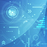 Blue Abstract technology circuit Background, vector illustration. Innovation Stock Image