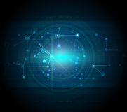 Blue abstract technology hi-tech background Royalty Free Stock Photos