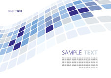Blue abstract template Royalty Free Stock Photo