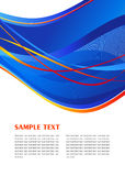 Blue abstract template. Blue abstract waving template. Vector Royalty Free Stock Images