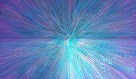 Blue abstract texture with sharp beams Stock Photography