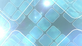 Blue abstract tiles on light background stock video