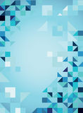 Blue abstract  trendy background with triangles. Vector illustration Royalty Free Stock Image