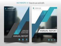 Blue abstract triangle annual report Brochure design template ve. Ctor. Business Flyers infographic magazine poster.Abstract layout template ,Book Cover Royalty Free Stock Photos