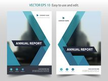 Blue abstract triangle annual report Brochure design template vector. Business Flyers infographic magazine poster. Abstract layout template ,Book Cover Royalty Free Stock Photos