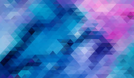 Blue Abstract triangle background Stock Photo
