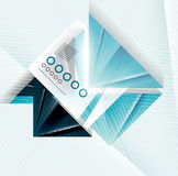 Blue abstract triangle shape geometric background Stock Images