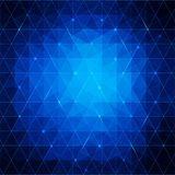 Blue abstract triangles background for your busine Stock Images