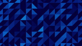 Blue abstract triangles looping background. stock video