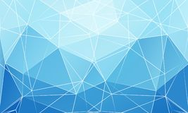 Blue abstract triangular background. Vector art illustration Stock Photos
