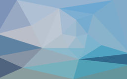 Blue abstract triangular low poly Stock Photography
