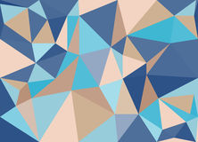 Blue abstract triangulated mosaic background. Royalty Free Stock Photo