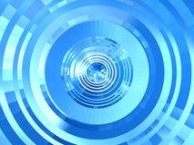 Blue abstract tunnel Royalty Free Stock Photo