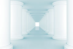 Blue Abstract tunnel Royalty Free Stock Photos