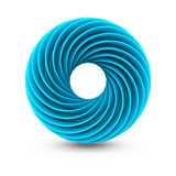 Blue Abstract Twisted Design Object Royalty Free Stock Photos