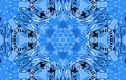 Blue abstract untidy pattern. With scrawl and curl Royalty Free Stock Image