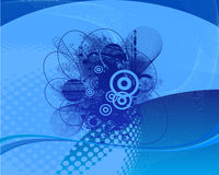 Blue Abstract Vector Background Stock Images