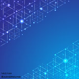 Blue abstract vector background. vector Royalty Free Stock Image