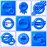 Blue abstract vector set of backgrounds for your Royalty Free Stock Photos