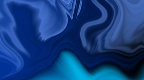 Blue abstract vector shaded wavy background wallpaper. vivid color vector illustration. Royalty Free Stock Photography