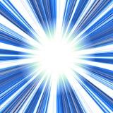Blue Abstract Vortex. An abstract vortex illustration - speeding toward a central point stock illustration
