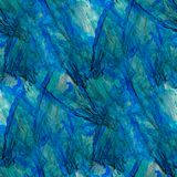Blue abstract watercolor art seamless texture Stock Photography