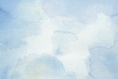 Blue abstract watercolor background Stock Photo
