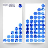 Blue abstract watercolor background. Vector Stock Illustration