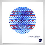 Blue abstract watercolor background. Vector. Royalty Free Stock Photography
