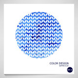 Blue abstract watercolor background. Vector. Royalty Free Stock Photo