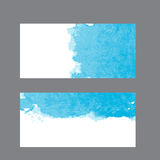 Blue Abstract Watercolor Paint Splashes Stock Photos