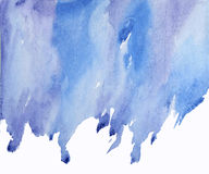 Blue abstract watercolor on wet spot Stock Image
