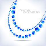 Blue abstract wave. Royalty Free Stock Photos