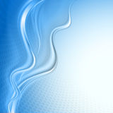 Blue abstract wave Royalty Free Stock Photography
