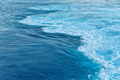 Blue abstract wave ocean water background Stock Image