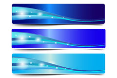 Blue Abstract Wave  Vector Royalty Free Stock Photos