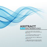 Blue Abstract waves background. Vector Stock Photo