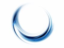 Blue Abstract, Wavy Lines On White Background Stock Images