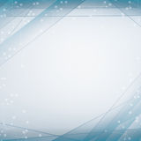 Blue abstract whit white background and smooth lines whit ovals Stock Images