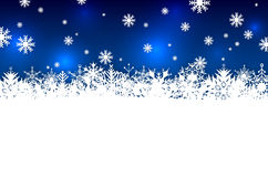 Blue abstract winter season background with snowflakes Royalty Free Stock Photography