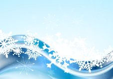 Blue abstract Xmas vector design Stock Photography