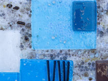 Blue abstraction Stock Photo