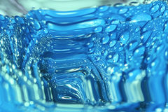 Blue abstraction with water drops Stock Photography