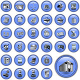 Blue Account Buttons Stock Photo